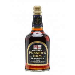 Pusser's British Navy Black Label Gunpowder Proof Rum 0,7L