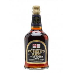 Pusser's British Navy Black Label Gunpowder Proof Rum 0,7L