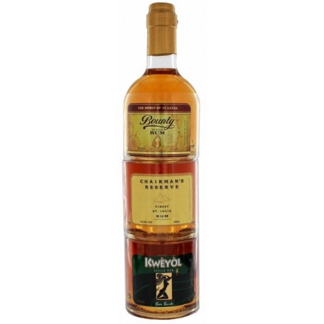 Saint Lucia Stackables Golden Rum 3x0,25L