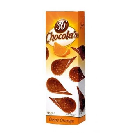 Chocola's - čokoládové lupínky s pomerančem 125g