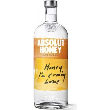 Absolut Honey Vodka 1L
