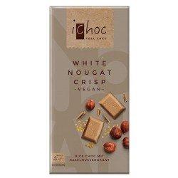 Ichoc White Nougat Crisp Bio - čokoláda 80g