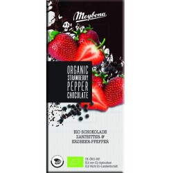 Meybona Organic Strawberry Pepper - čokoláda 100g