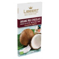 Libeert Bio - kokosová čokoláda s jogurtem 100g