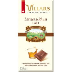 Villars - mléčná čokoláda s rumovou náplní 100g