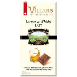Villars - mléčná čokoláda plněná whisky 100g