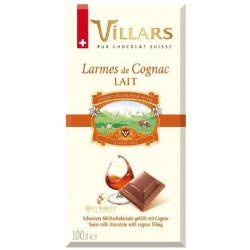Villars - mléčná čokoláda s koňakovou náplní 100g