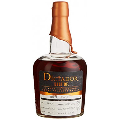 Dictador BEST OF 1982 Colombian Limited Release Rum 0,7L
