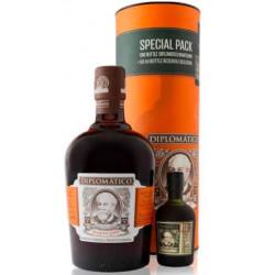 Diplomático MANTUANO Extra Anejo Rum 0,7L + Diplomático RESERVA EXCLUSIVA Rum 0,05L