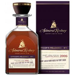 Admiral Rodney OFFICER'S RELEASES - N°1 Saint Lucia Rum PORT CASK FINISH 2006 Rum 0,7L