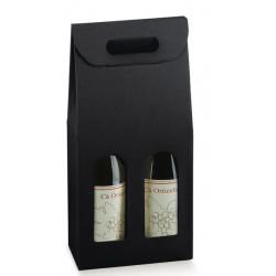 Krabice na víno - 2 láhve, černá