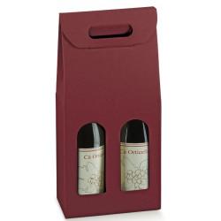 Krabice na víno - 2 láhve, červená