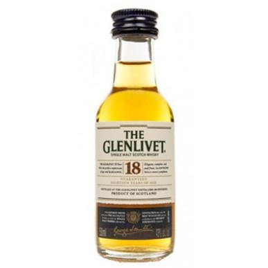 The Glenlivet Single Malt Scotch Whisky 18yo 0,05L