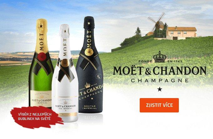 Luxusní šampaňské - Moet a další